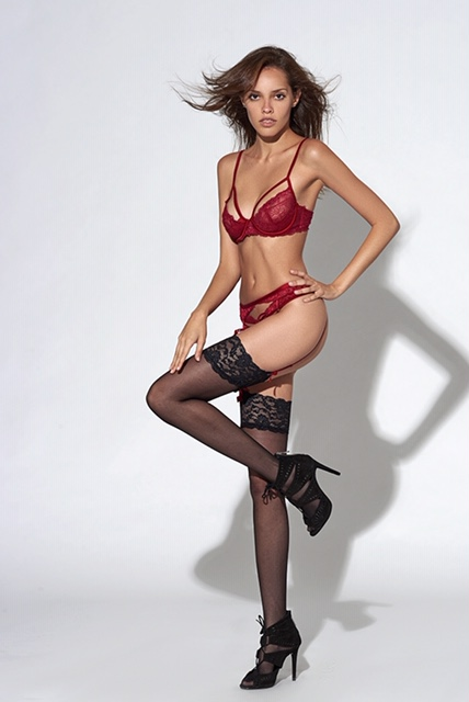Balistarz-model-Anni-Barros-looking-gorgeous-with-the-red-lingerie-and-stockings