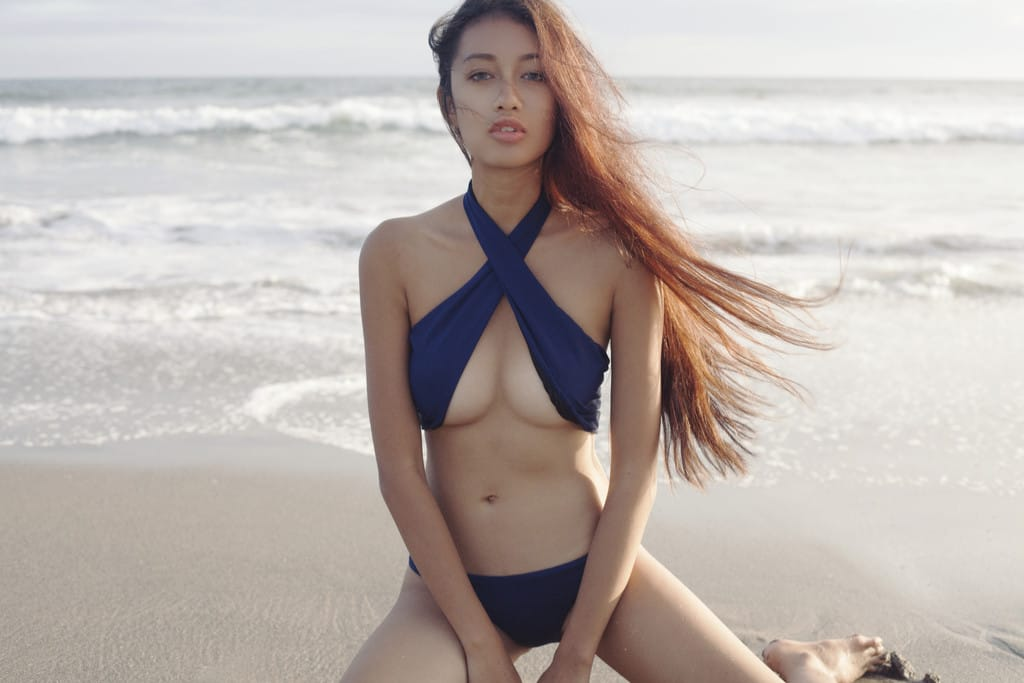 Balistarz-model-Claudia-Maretha-bikini-shot-wearing-blue-swim-suit-at-the-beach