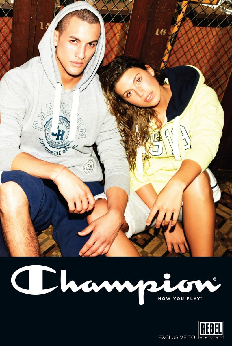 Balistarz-model-Emile-Steenveld-couple-shot-wearing-outfit-by-champion-clothing-brand