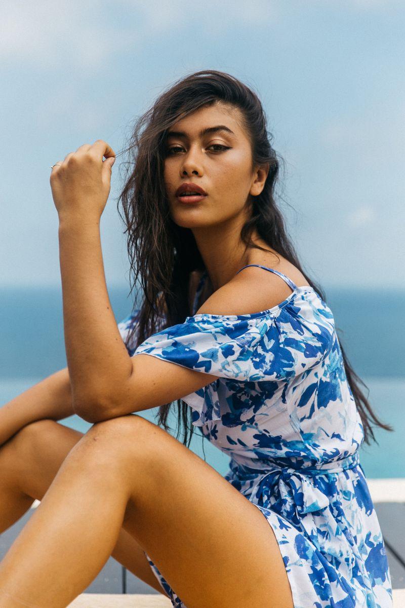 Balistarz-model-eva-kandra-casual-portrait-shot-wearing-blue-and-white-dress