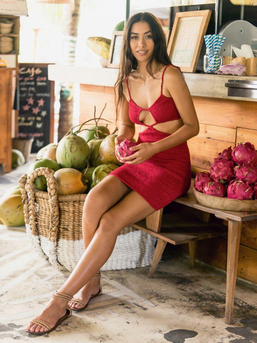 Balistarz-model-eva-kandra-fashion-and-lifestyle-wearing-sexy-red-dress