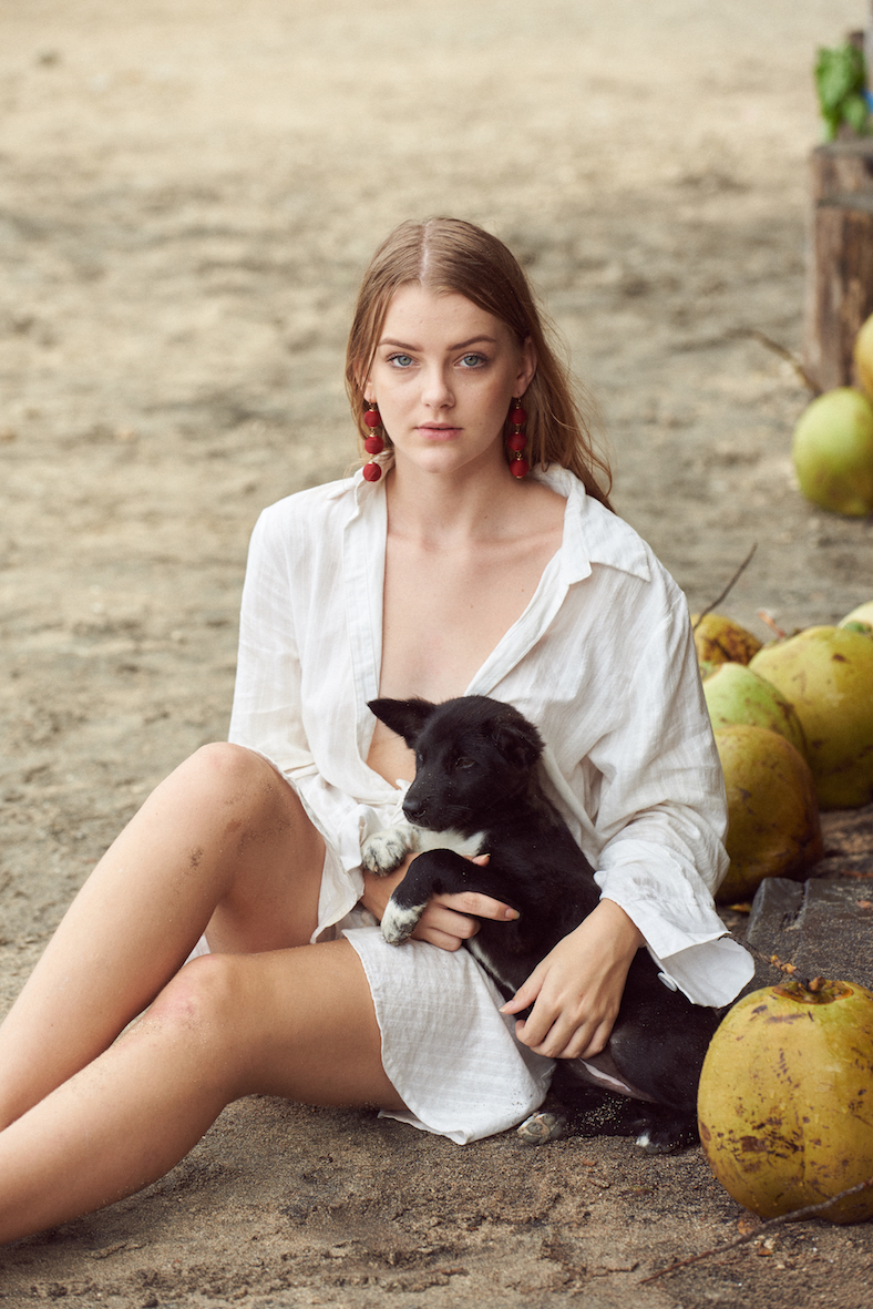 Balistarz-model-India-Rose-portrait-shoot-with-a-dog-by-Angela-Paterman