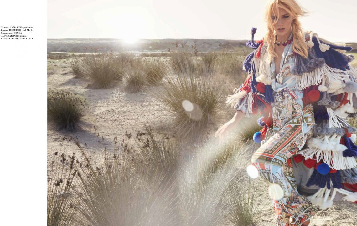 Balistarz-model-Liliya-Abraimova-cover-desert-some-plants-fashion-clothing-multicolored