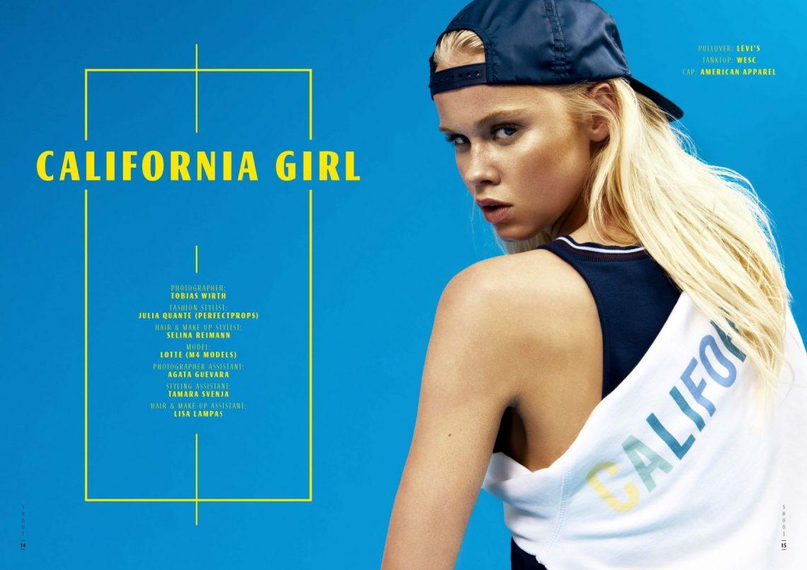 Balistarz-model-Lotte-Keijser-Shoot-for-California-GIrls-blue-background-tank-top