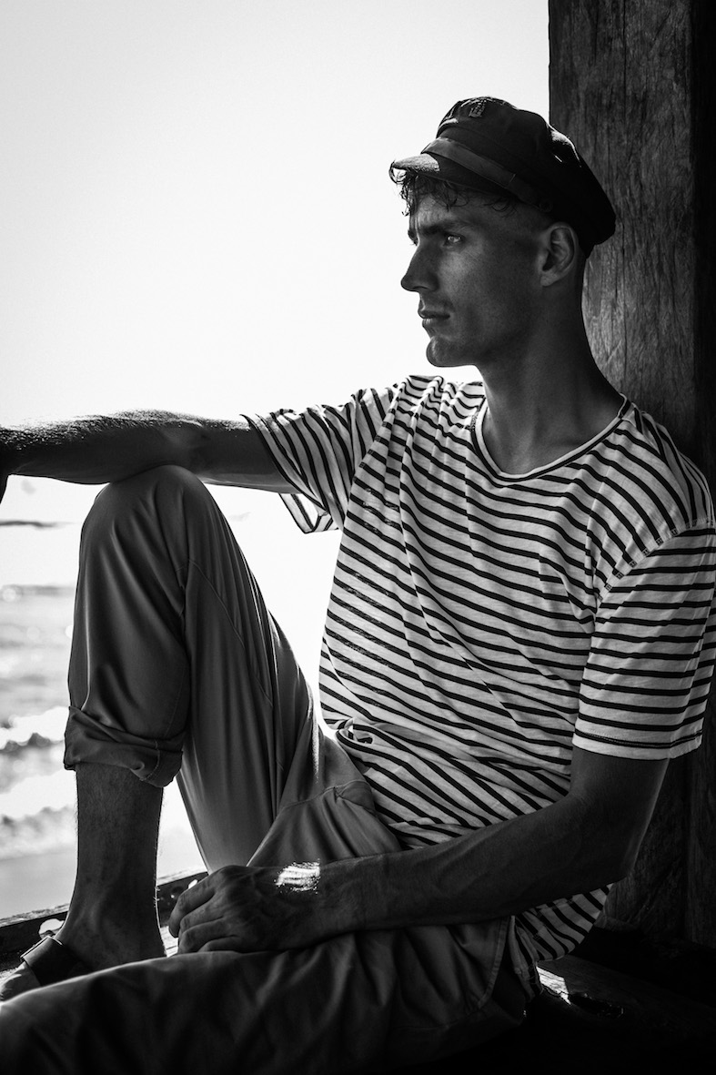 Balistarz-model-March-Deane-black-white-shoot-portrait-old-school-fashion