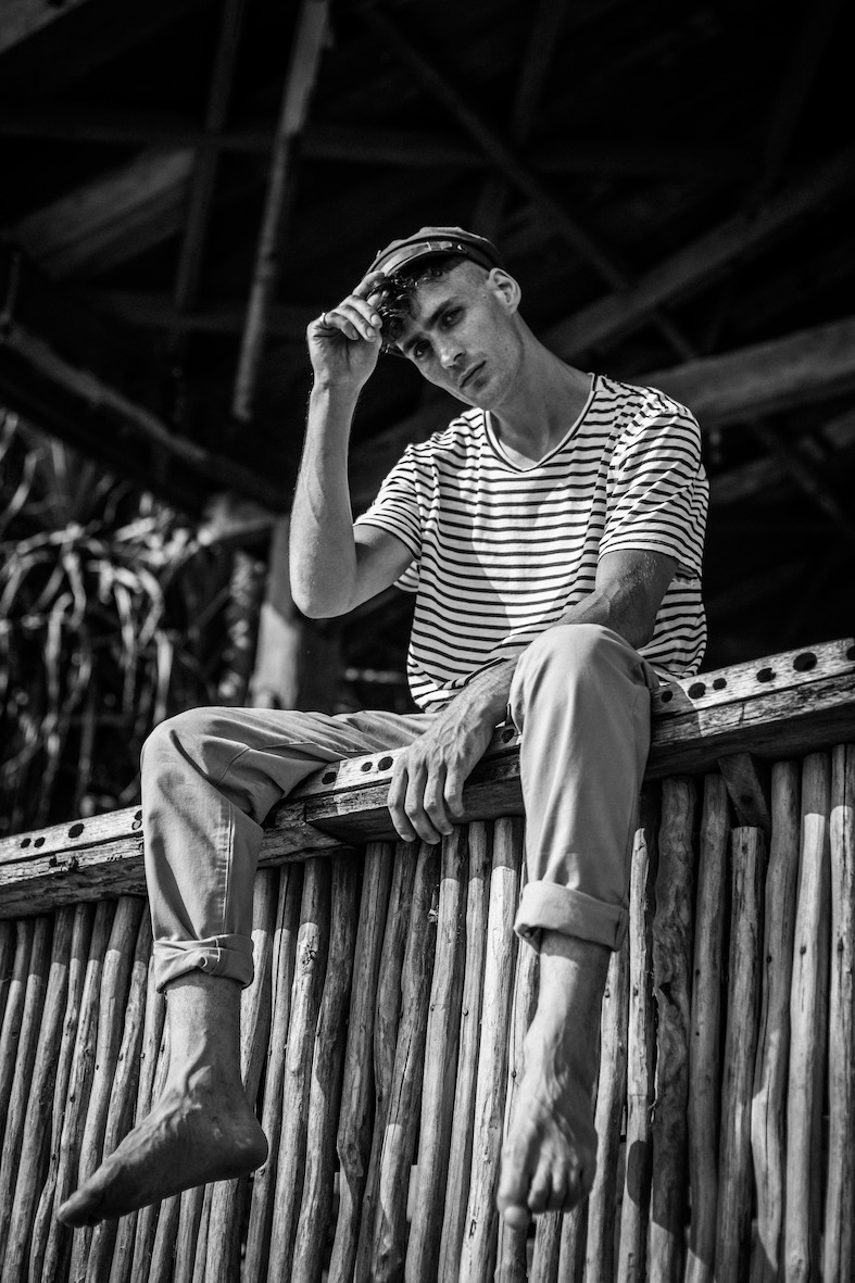Balistarz-model-March-Deane-black-white-profile-portrait-shoot
