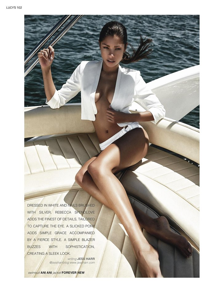 Balstarz-model-Mariana-Fernandes-portrait-shoot-Jess-Harr-with-white-clothing-on-a-fancy-boat