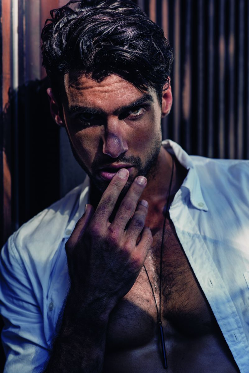Balistarz-model-Mitchell-Wick-portrait-shot-for-HUF-magazine