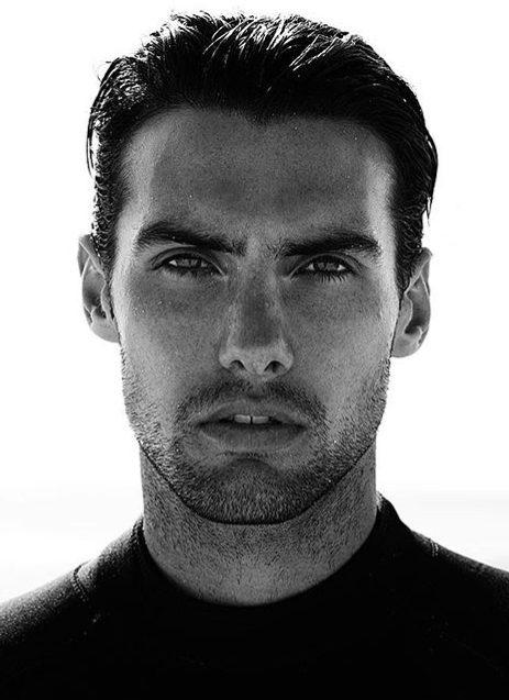 Balistarz-model-Mitchell-Wick-studio-portrait-shot-black-and-white