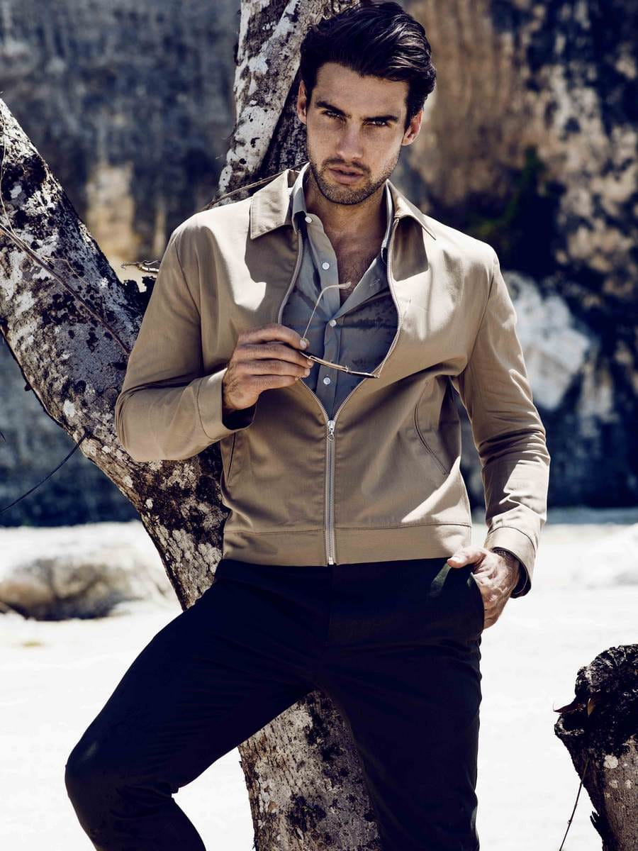 Balistarz-model-Mitchell-Wick-outdoor-fashion-fashionable-style-wearing-jacket