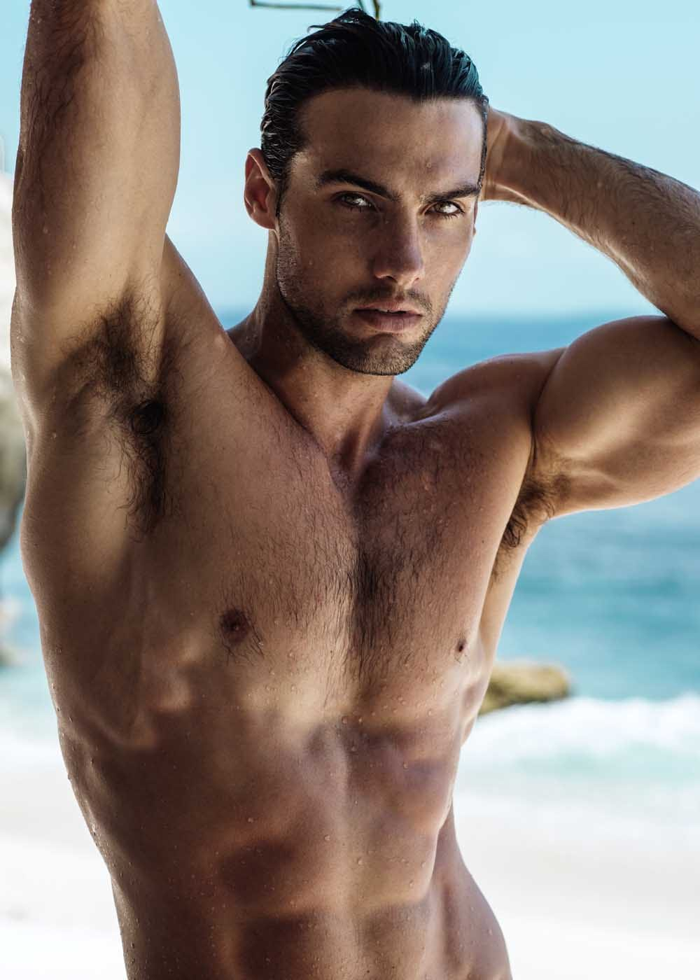 Balistarz-model-Mitchell-Wick-showing-his-hot-and-sexy-body-photo-taken-near-the-beach
