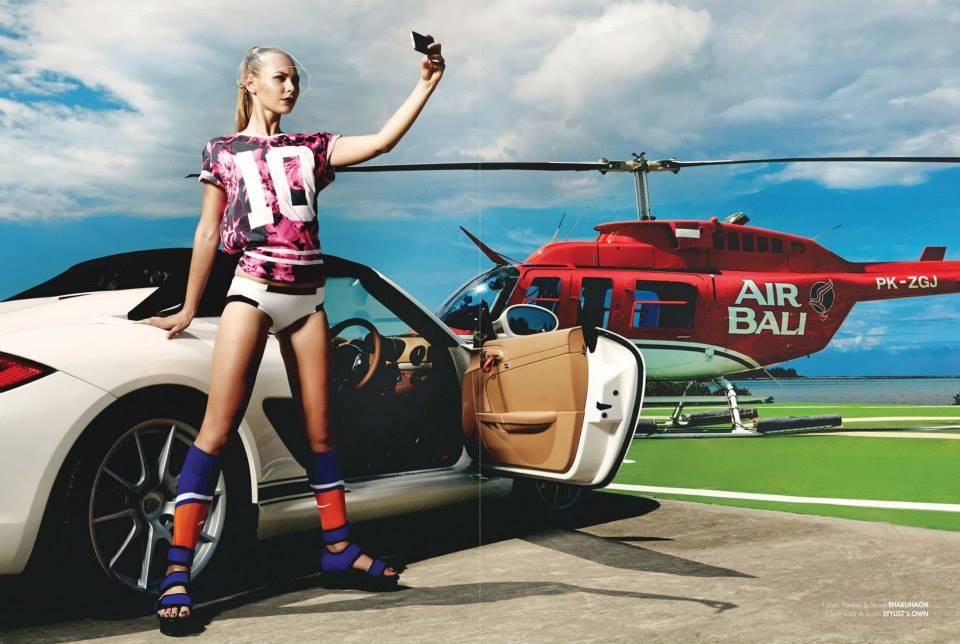 Balistarz-model-Olya-Nechiporenko-high-style-fashion-shot-surrounded-by-sport-car-and-helicopter