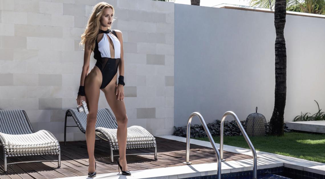 Balistarz-model-Paula-Salort-Landscape-shot-in-casual-swimsuit-near-pool