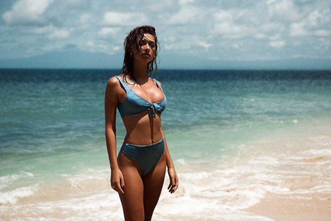 Balistarz-model-Raluca-Cojocaru-beach-shoot-swim-wear-by-TJ-Swim-blue-pair-of-bikini-sea-background-landscape-shot