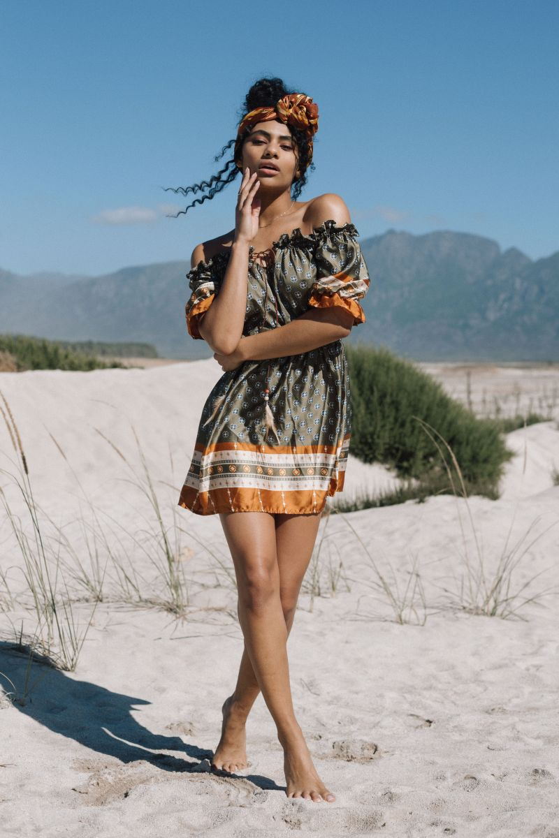 Balistarz-model-Rocky-Brower-casual-fashion-shot-wearing-mini-dress-at-the-desert
