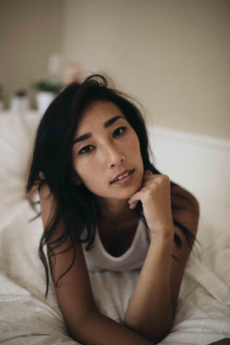 Balistarz-model-Sharon-Coplon-portrait-shoot-resting-on-the-bed