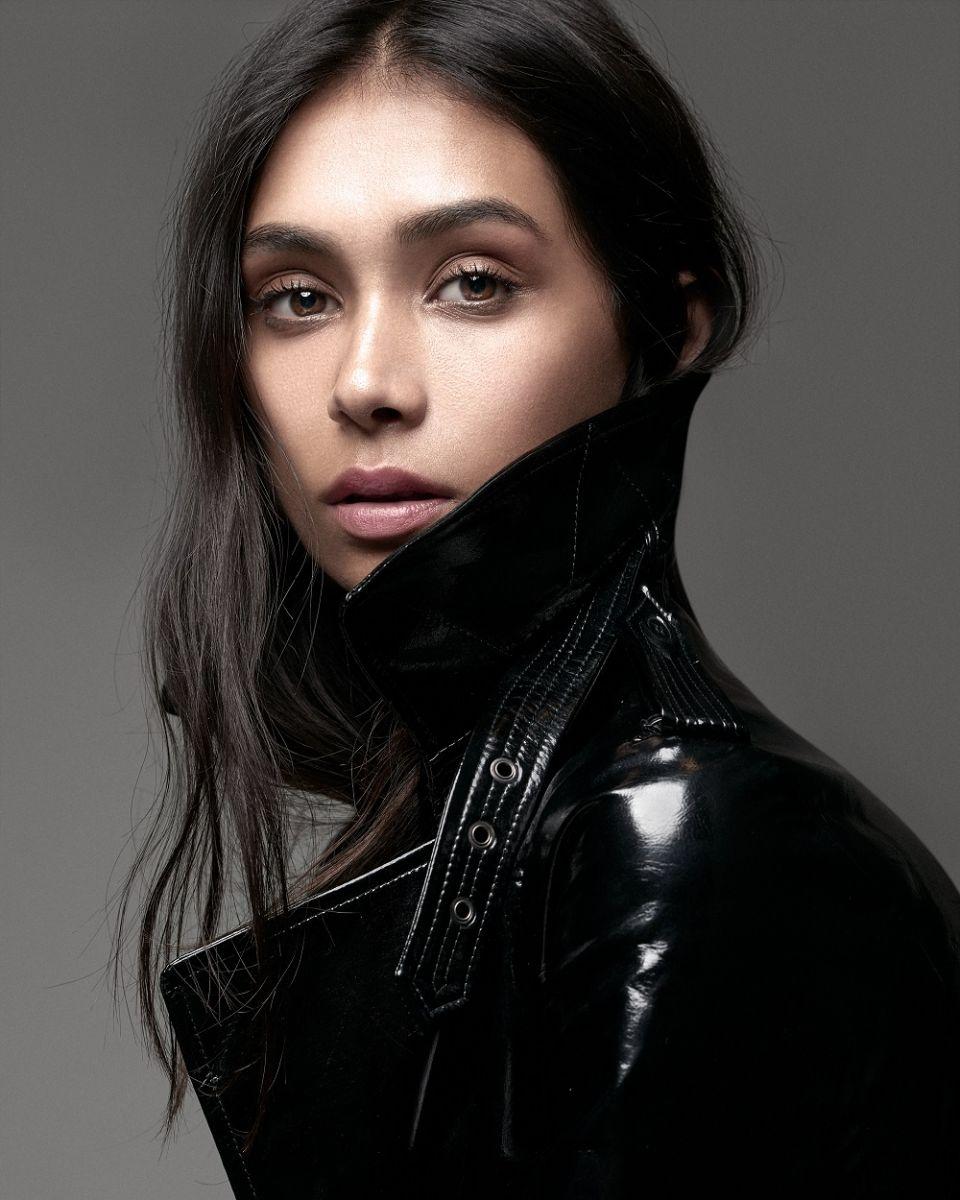 Balistarz-model-Shree-Patel-portrait-closup-shoot-profile-leather-jacket