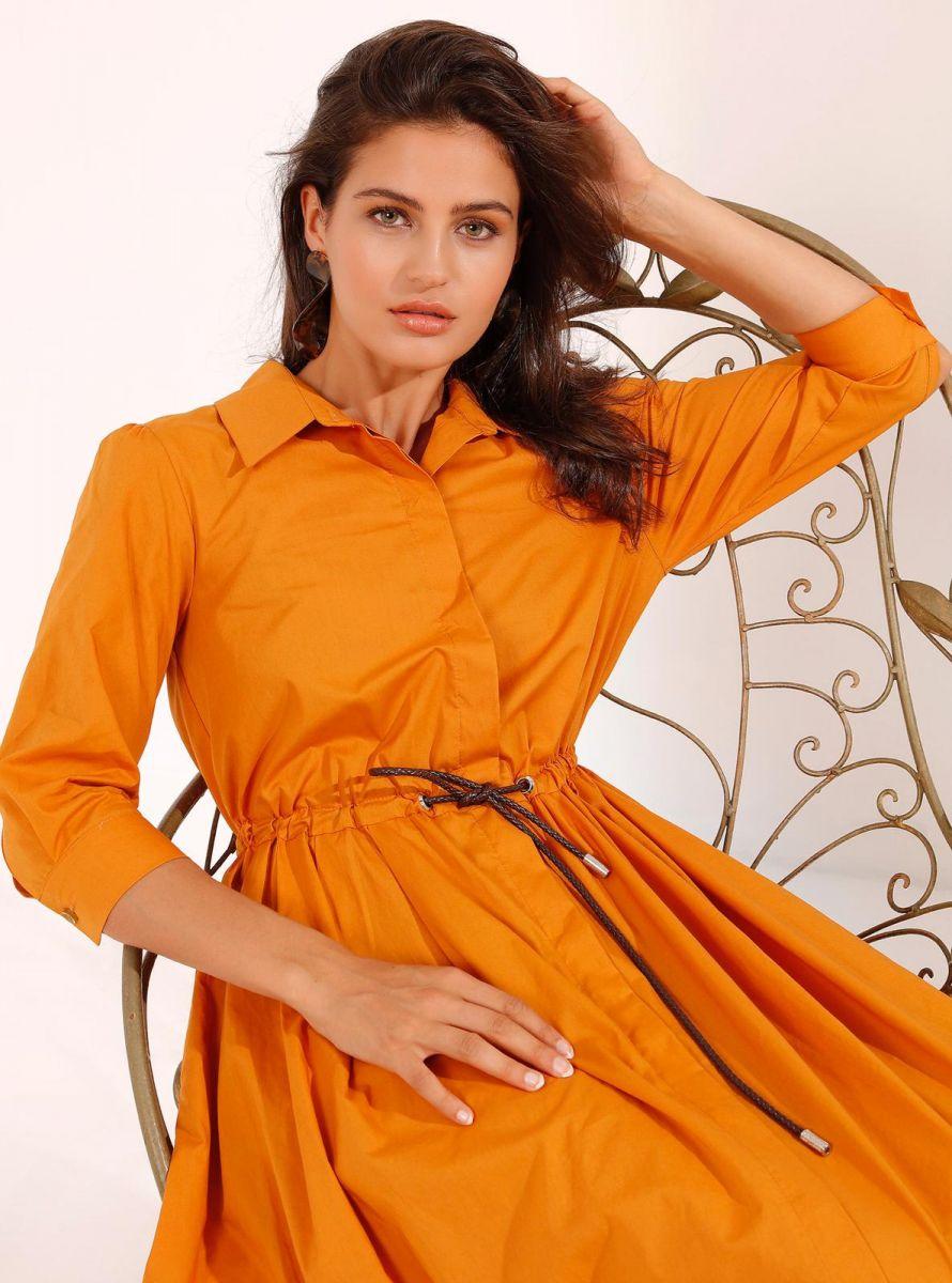 Balistarz-model-Thea-Bull-portrait-shoot-in-a-orange-dress