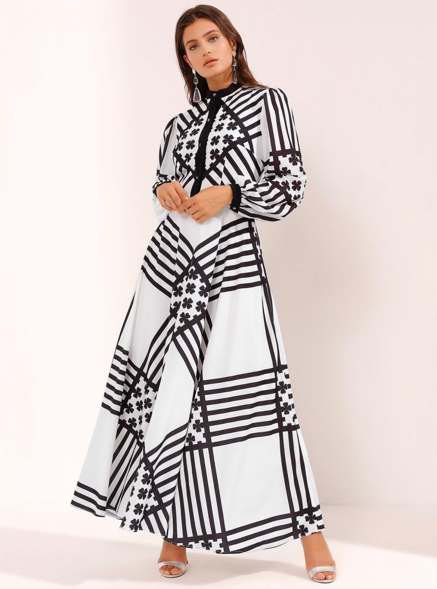 Balistarz-model-Thea-Bull-portrait-shoot-in-a-black-and-white-dress